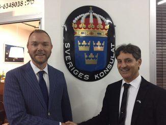 """עו""""ד משה קריספין מונה לקונסול הכבוד של שוודיה באילת"""